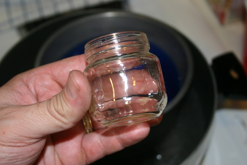 Baby food jar, these are the small STAGE 1 jars but I did a couple of the  larger jars too.