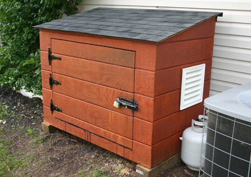 Outdoor fuel storage?